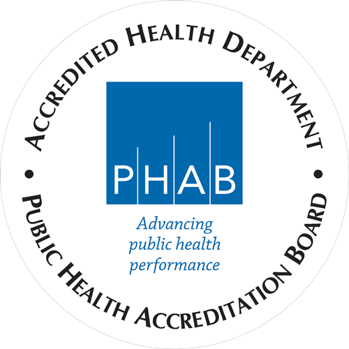 Accredited Health Department logo for Public Health Accreditation Board